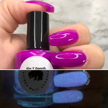 Load image into Gallery viewer, Glow-in-the-Dark Nail Polish - Purple, Glows Blue - Galaxy - Custom Blended - Glow Nails, FREE U.S. SHIPPING, Full Sized Bottle (15 ml size)