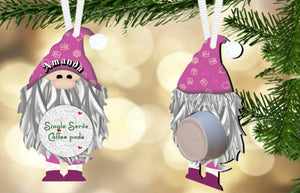 Gnome Coffee/Hot Cocoa Pod Holder Ornament, Personalized, Gnome Gift, Teacher Gift, Gift for Neighbors, Secret Santa, Co-worker Gift