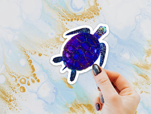Sea Turtle Sticker, Laptop Sticker, Water Bottle Sticker, Watercolor Turtle Sticker, Ocean Life, Tumbler Sticker, Turtle Sticker, Sea Turtle