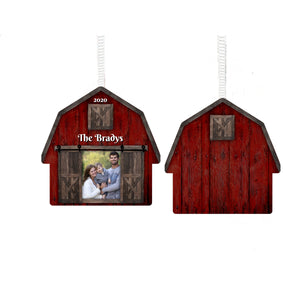 Barn Photo Christmas Ornament, Personalized Ornament, Custom Family Gift, Farm, Ranch, Name Ornament, Farm Gift, Ranch, Picture Gift