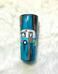 Rust Patina Rustic Tumbler, Camper, Personalized with Name, Insulated, Custom Name Tumbler, Camping Gift, Shabby Chic, Travel Cup, 22 oz