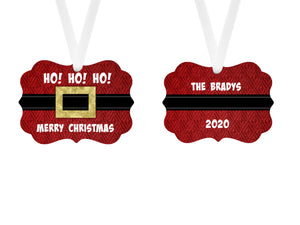 Santa Suit Personalized Christmas Ornament, Family Gift, Custom Ornament, Name Ornament, Santa Ornament, Christmas Ornament, Holiday Gift