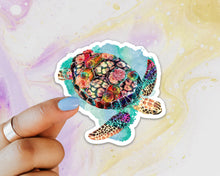 Load image into Gallery viewer, Sea Turtle Sticker, Laptop Sticker, Water Bottle Sticker, Watercolor Turtle Sticker, Ocean Life, Tumbler Sticker, Turtle Sticker, Sea Turtle