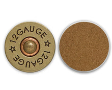 Load image into Gallery viewer, Shotgun Shell 12 Gauge Ceramic Coasters, Set of 4, Bullet Coaster, Coaster, Coasters for Men, Hunting Coaster, Couples Gift, Gift for Man