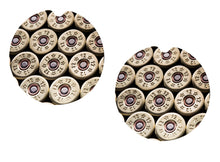 Load image into Gallery viewer, Shotgun Shells 12 Gauge Ceramic Car Coasters, Set of 2, Bullet Car Coaster, Sandstone Car Coaster, Car Coasters for Men, Hunting Coaster