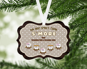 Smores Personalized Christmas Ornament, Family Gift, Custom Ornament, Name Ornament, Grandparents Gift, Grandma, Christmas, Holiday Gift