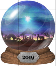 Load image into Gallery viewer, Personalized Snow Globe Nativity Christmas Ornament, Name Ornament, Custom Christmas Holiday, Gift for Mom, Grandma Gift, Family Gift