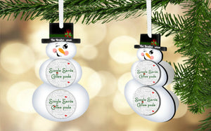 Snowman Coffee/Hot Cocoa Pod Holder Ornament, Personalized, Snowman Gift, Teacher Gift, Gift for Neighbors, Secret Santa, Co-worker Gift