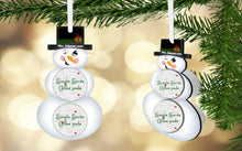 Load image into Gallery viewer, Snowman Coffee/Hot Cocoa Pod Holder Ornament, Personalized, Snowman Gift, Teacher Gift, Gift for Neighbors, Secret Santa, Co-worker Gift