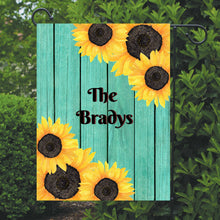 Load image into Gallery viewer, Sunflower Garden Flag, Personalized, Garden Flag, Name Garden Flag, Sunflower Decor, Sunflower Flag, Yard Decor, Yard Decoration