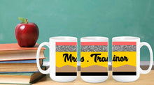 Load image into Gallery viewer, Teacher Pencil Mug, Personalized Teacher Name Gift, Teacher Gift, Gift from Student, Pencil Cup, Coffee Mug