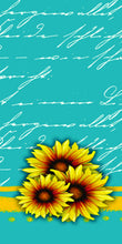Load image into Gallery viewer, Sunflower and Teal Kitchen Towel Personalized, Gifts for Mom, Sunflower Gift. Housewarming Gift, Hostess Gift, Wedding Gift, Tea Towel