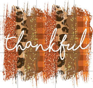 Fall Thankful Sublimation Transfer Ready to Press, Autumn, Leopard, Printed, Ready to Use