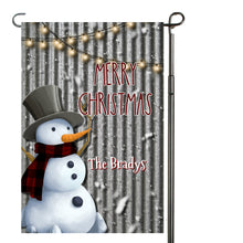 Load image into Gallery viewer, Snowman Merry Christmas Garden Flag, Personalized Garden Flag, Christmas Garden Flag, Family Gift, Custom Garden Flag, Snowmen, Christmas Decor