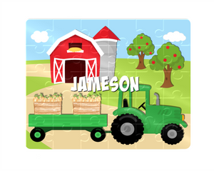 Puzzle, Kids Puzzle, Farm Tractor Puzzle, Children's Custom Puzzle, Personalized Puzzle, Educational Toy, Kid Gift, Name Puzzle, Educational