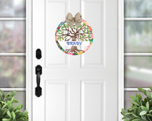 Load image into Gallery viewer, Summer Tree of Life Door Hanger - Personalized, Name Door Hanger, Family Gift, Custom Door Hanger, Wedding Gift, Front Door Hanger, Summer