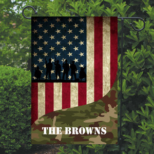American Military Garden Flag, Personalized, Veteran Garden Flag, Army Garden Flag, Patriotic Yard Flag, American Flag Decor, Army, Military