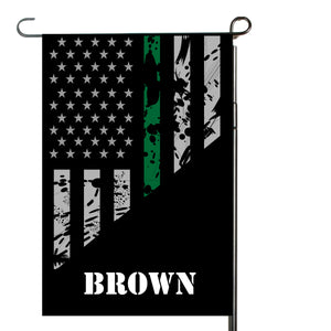 Thin Green Line Garden Flag, Garden Flag, Personalized, Name Garden Flag, Yard Decor, Yard Flag, Yard Decoration, Gift for Man, Father's Day
