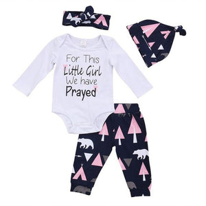 4pc Lovely Cartoon Bear Clothing Set