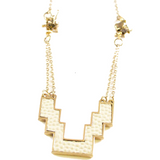 Petite Mayan Snake Necklace in Cream