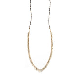 Jenny Bird Palm Rope Necklace in Black