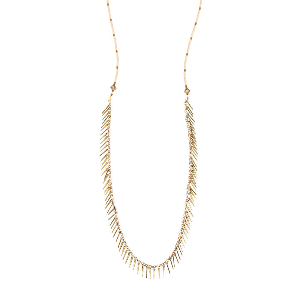 Jenny Bird Palm Rope Necklace in Natural
