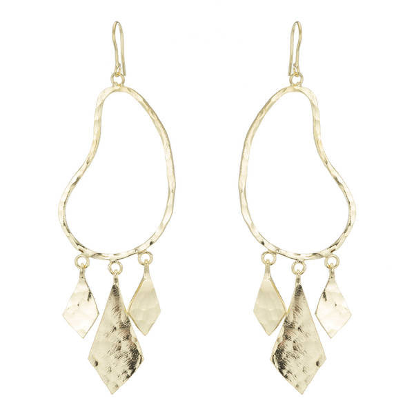 Dangling Diamond Earrings in Gold