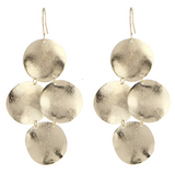 Disc Earrings in Gold