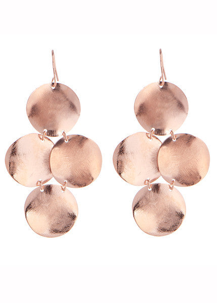 Disc Earrings in Rose Gold