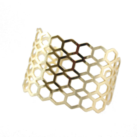 Honey Geo Cuff in Gold