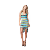 Kaiden Dress in Turquoise Sun Stripe