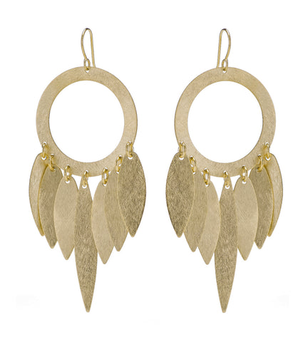 Gold Dream Catcher Earrings