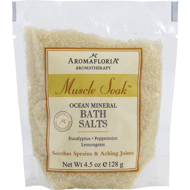 Aromafloria Ocean Mineral Bath Salt Packet 4.5 Oz Eucalyptus, Peppermint, And Lemongrass By Aromafloria