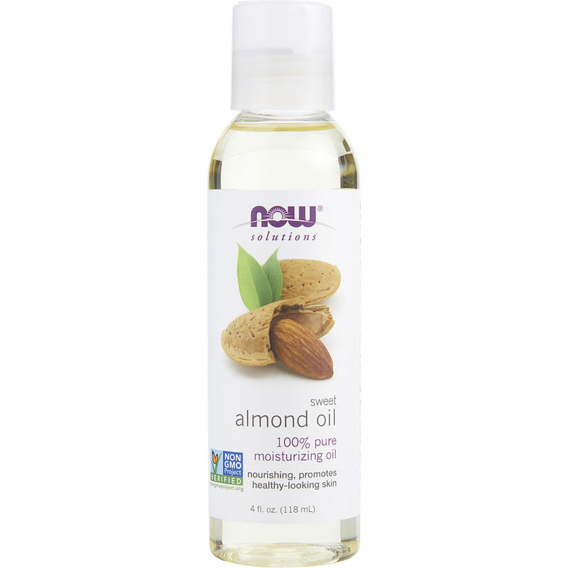 Now Essential Oils Sweet Almond Oil 100% Moisturizing Skin Care 4 Oz By Now Essential Oils