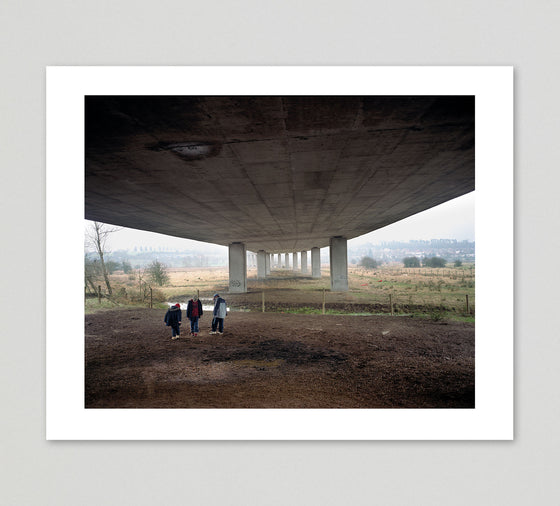 Polly Braden Print 'Kids kicking dust under the M25' - limited edition of 25