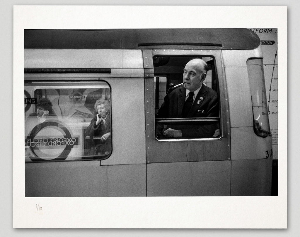 Limited edition print (B) + signed book: 'London Underground 1970-1980'