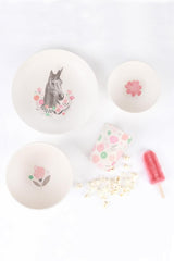 Love Mae Unicorn Supper - 4 Piece Bamboo Dinner Set