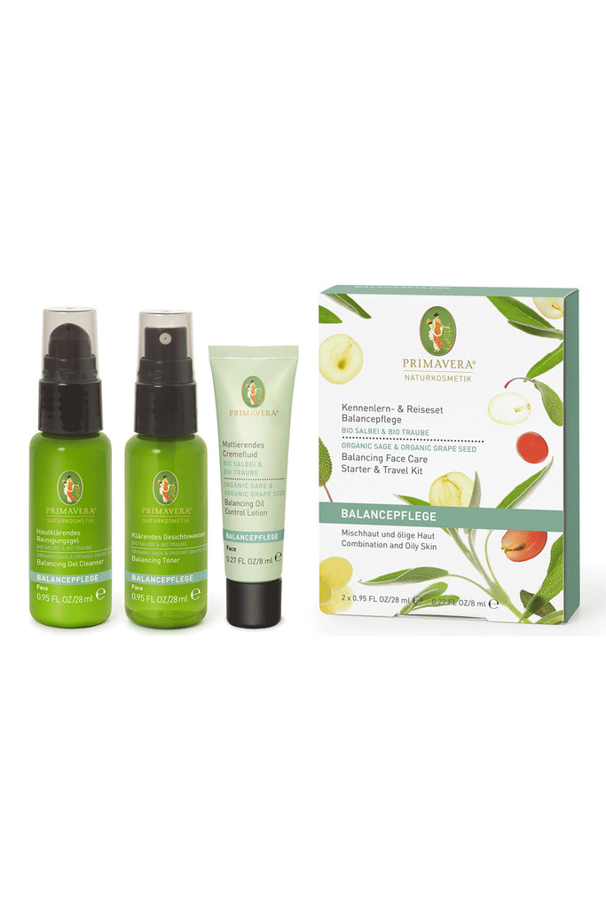 Primavera Balancing Face Care Starter & Travel Kit