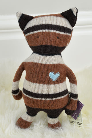 Eco Wool Brown Stripes Cat Critter