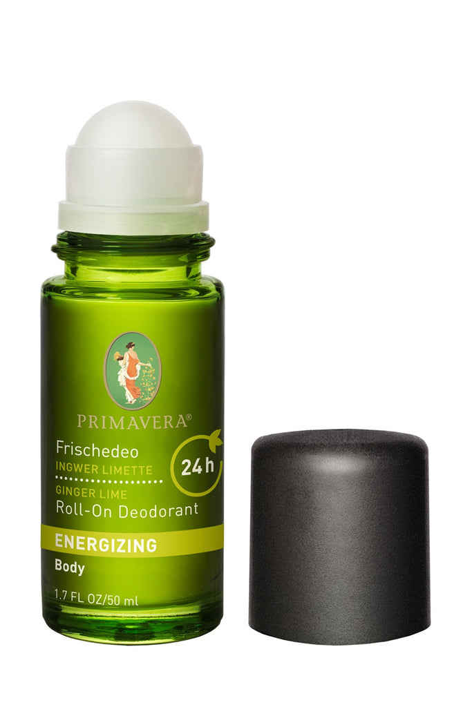 Primavera Energizing Ginger Lime Roll-On Deodorant