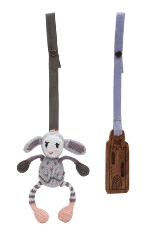 Finn + Emma Stroller Toy Set - Belle Bunny & Village