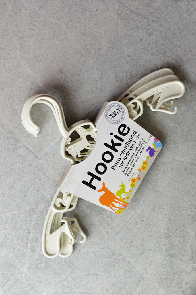 Fabulous Goose Hookie Baby Hangers - 3 Pack White