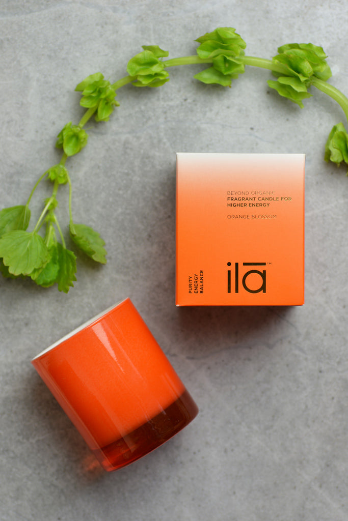 ila Spa Orange Blossom Candle for Higher Energy