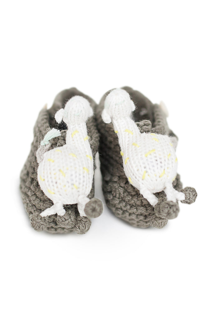 Finn + Emma Rattle Booties - Amelia the Giraffe
