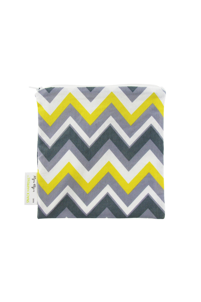 Itzy Ritzy Reusable Snack & Everything Bag - Sunshine Chevron