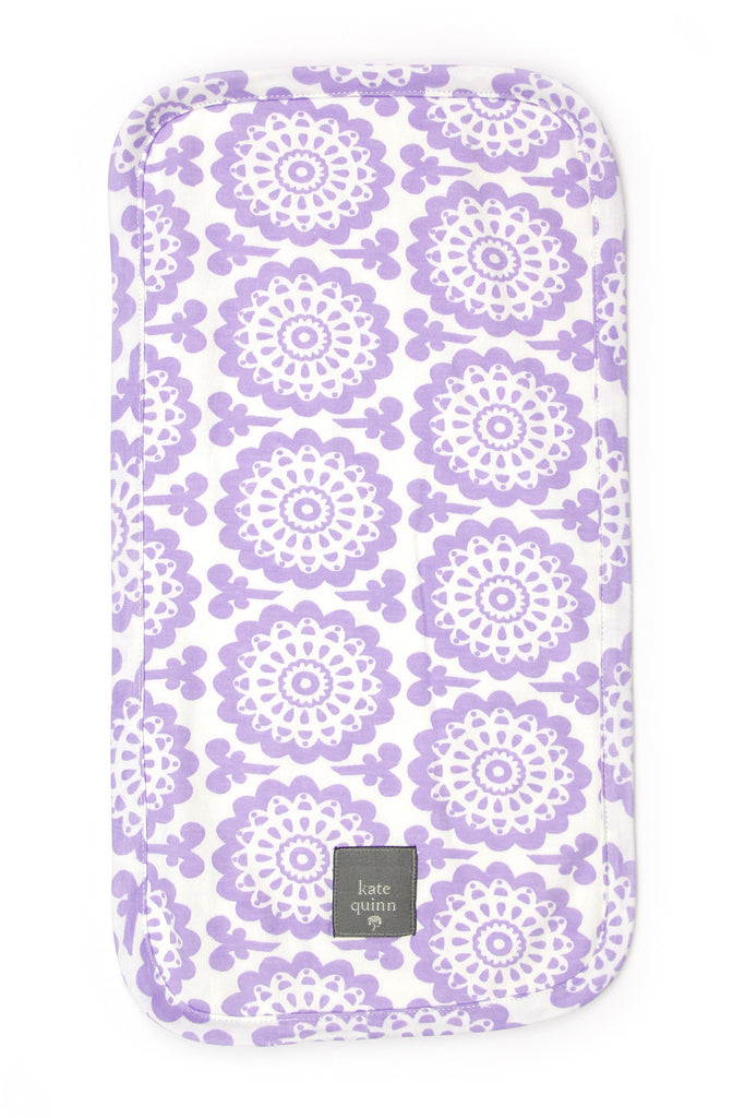 Kate Quinn Organics Flower Burp Cloth