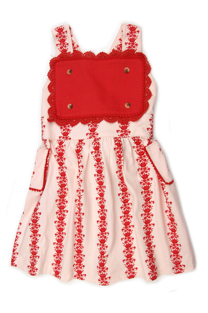 Kate Quinn Organics Floral Vine Pinafore Apron Dress
