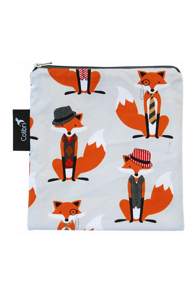 Colibri Reusable Snack Bags Mr. Fox Large