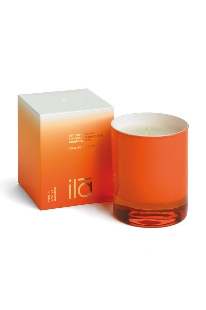ila Spa Orange Blossom Candle for Higher Energy with Box