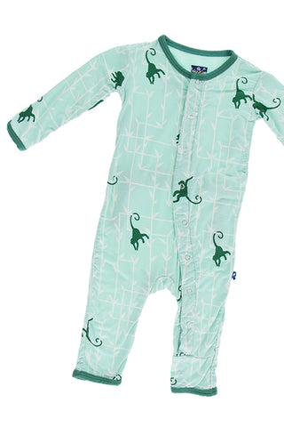 Kickee Pants Glass Forest & Monkey Coverall